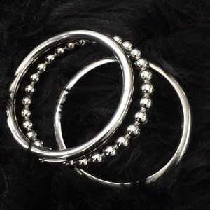 D&G stainless steel bracelet trio.